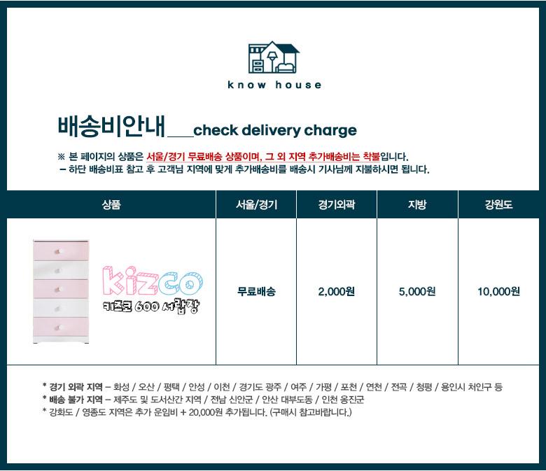 키즈코 600 서랍장 - 노하우, 84,790원, 가구, 옷장/수납장